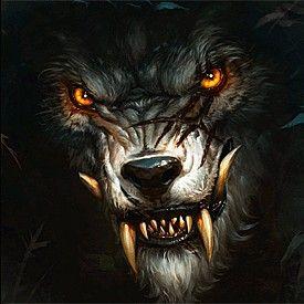 Avatar.   Loup garou, Loup noir, Loup dessin
