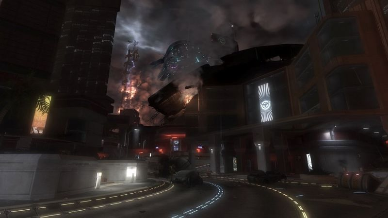 Halo 3: ODST Screenshot Walking New Mombasa's streets during the night  https://www.mobygames.com/game/xbox360/halo-3-odst/promo/promoI… | Halo, Halo  3 odst, Halo 3