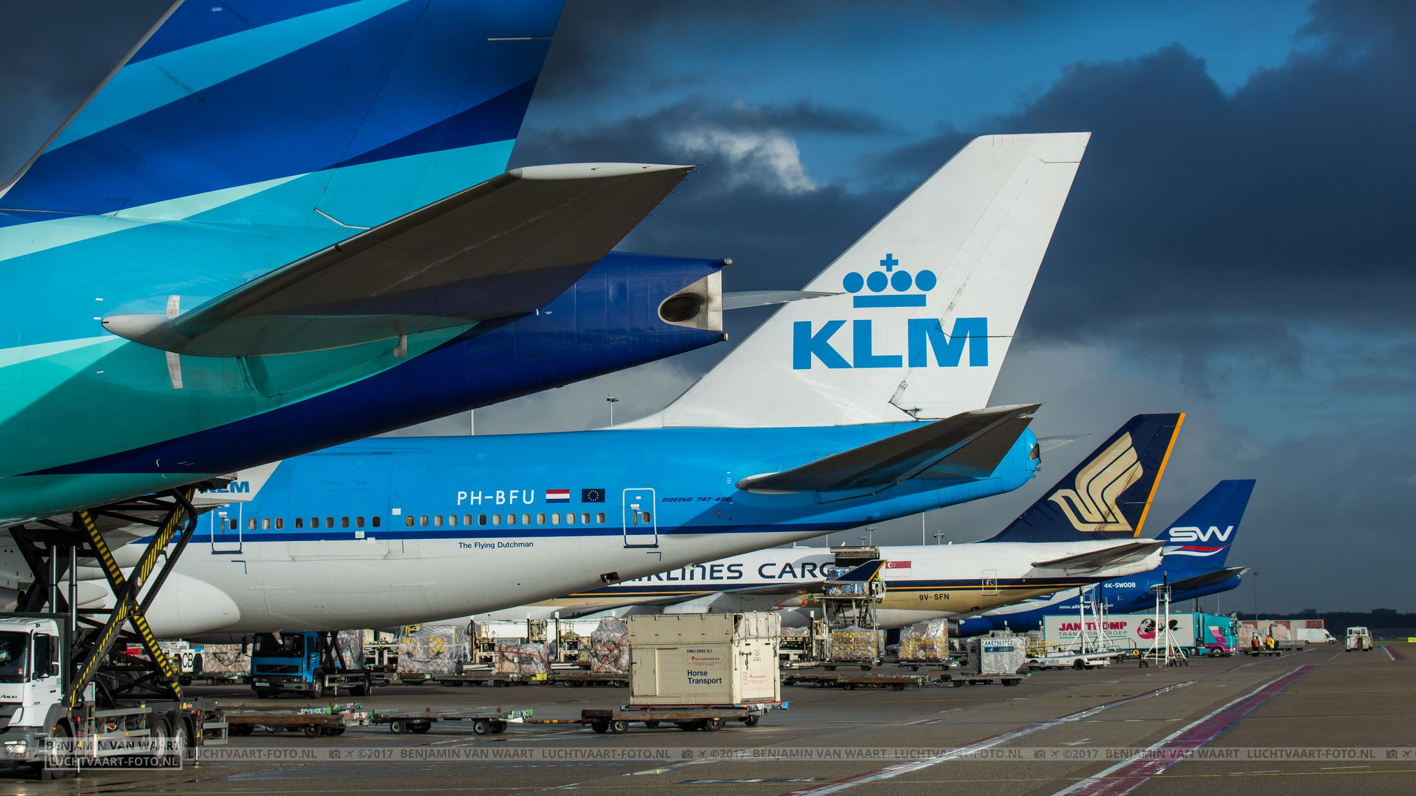 Boeing Tails At Romeo Platform Amsterdam Airport Schiphol Boeing