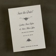 Wrapped in Gold - Save the Date Card and Envelope #weddings #savethedate #awesome #marriage