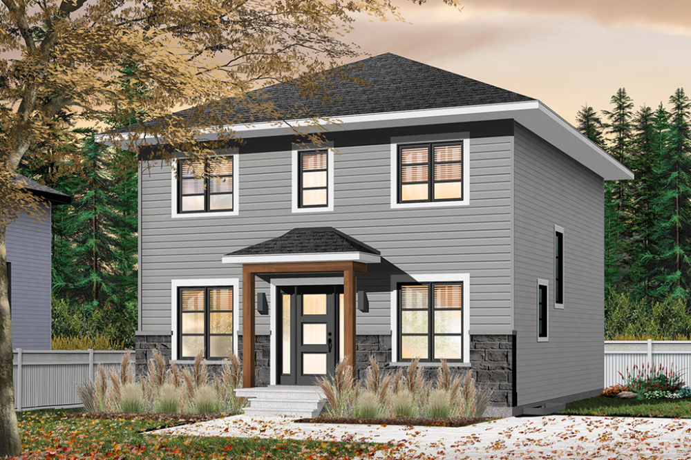 Traditional Style House Plan 4 Beds 1 5 Baths 1680 Sq Ft Plan 23 2703 Prairie Style Houses Colonial House Plans House Plans