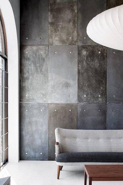 Industrial Wall Grey Industrial Industrieel Living Room