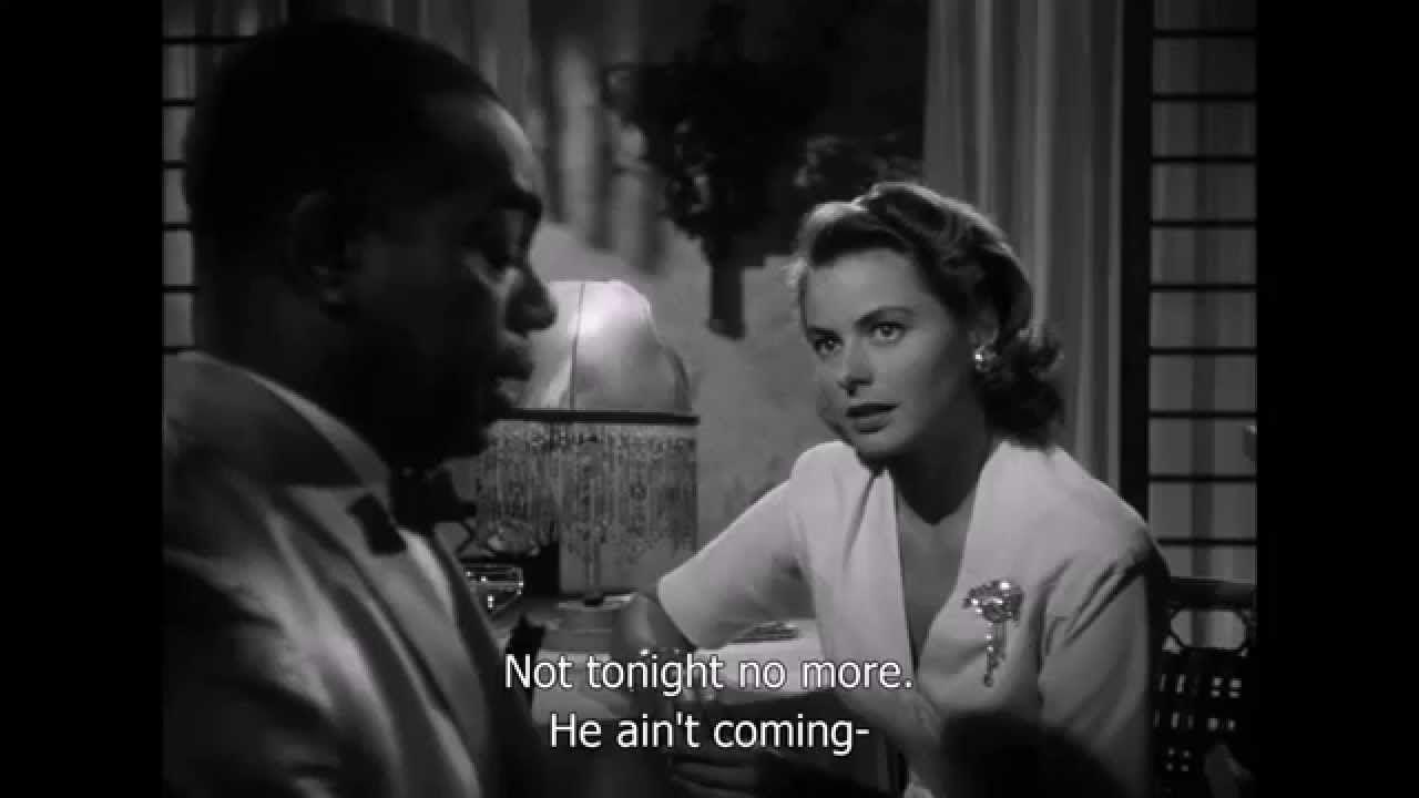 Casablanca Play It Again Sam Scene Hd Sub Youtube