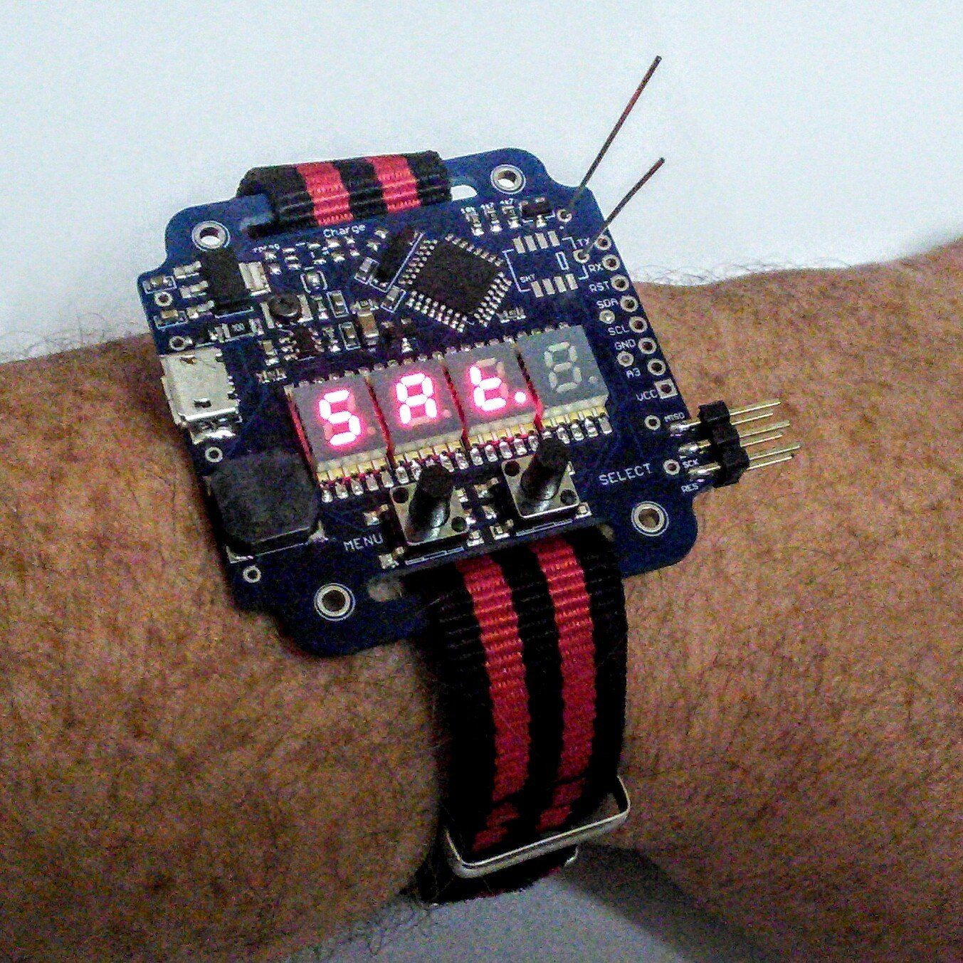 Supercapacitor powered arduino led wrist watch