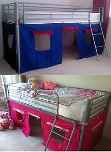UNDER BED BLUE/RED PINK TENT ONLY FOR MID SLEEPER CABIN BED & UNDER BED BLUE/RED PINK TENT ONLY FOR MID SLEEPER CABIN BED ...