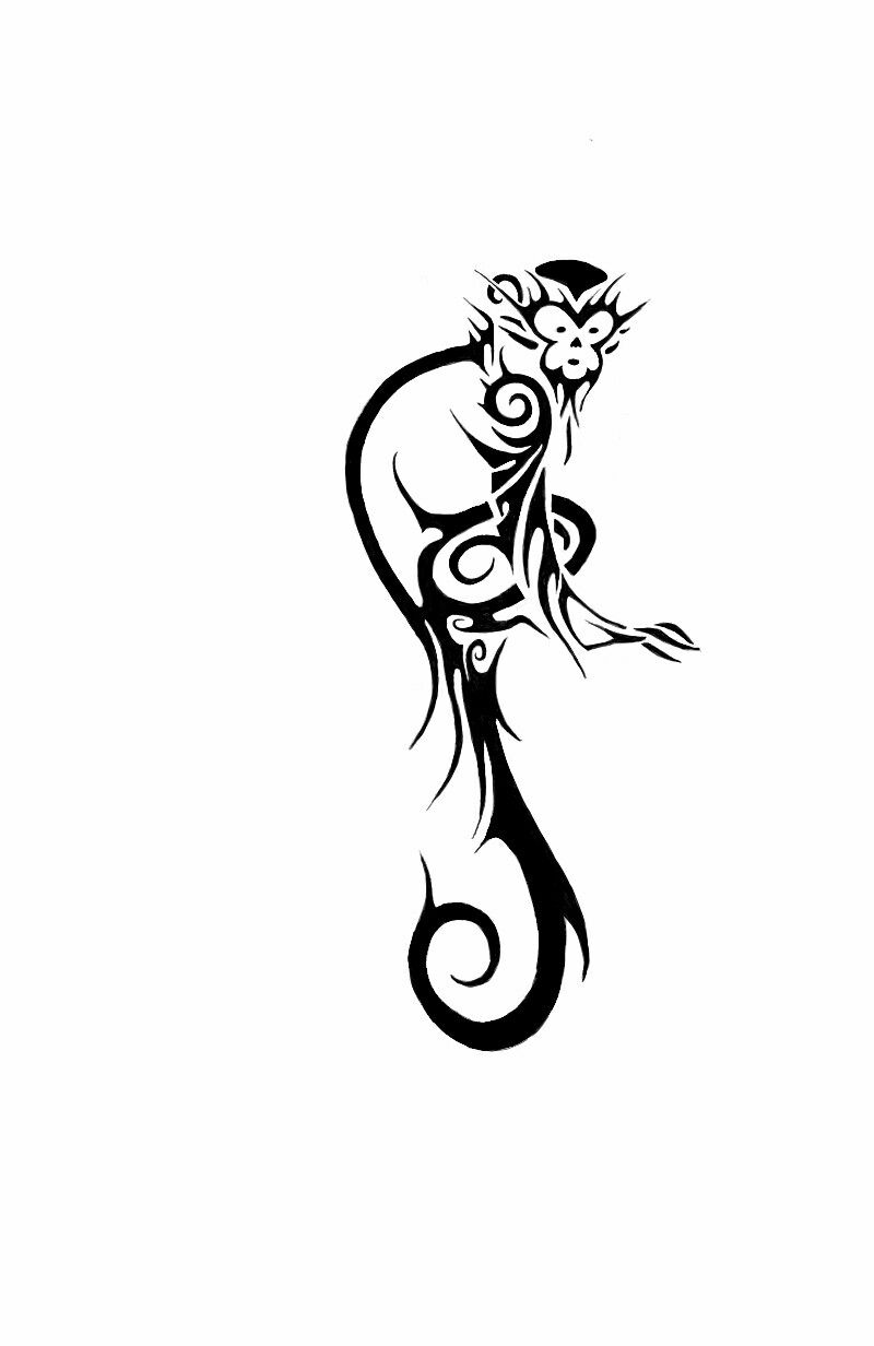 43e95388cbced Monkey Drawing, Monkey Art, Monkey King, Trible Tattoos, Gorilla Tattoo,  Monkey