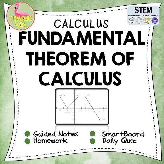 Calculus The Fundamental Theorem of Calculus   Calculus, Homework ...