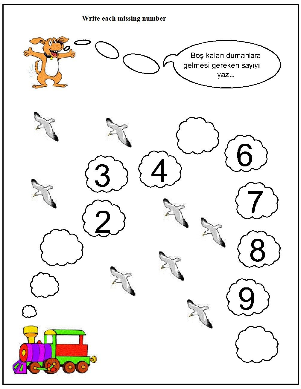 missing number worksheet for kids (16) | Kiddie Corner | Pinterest