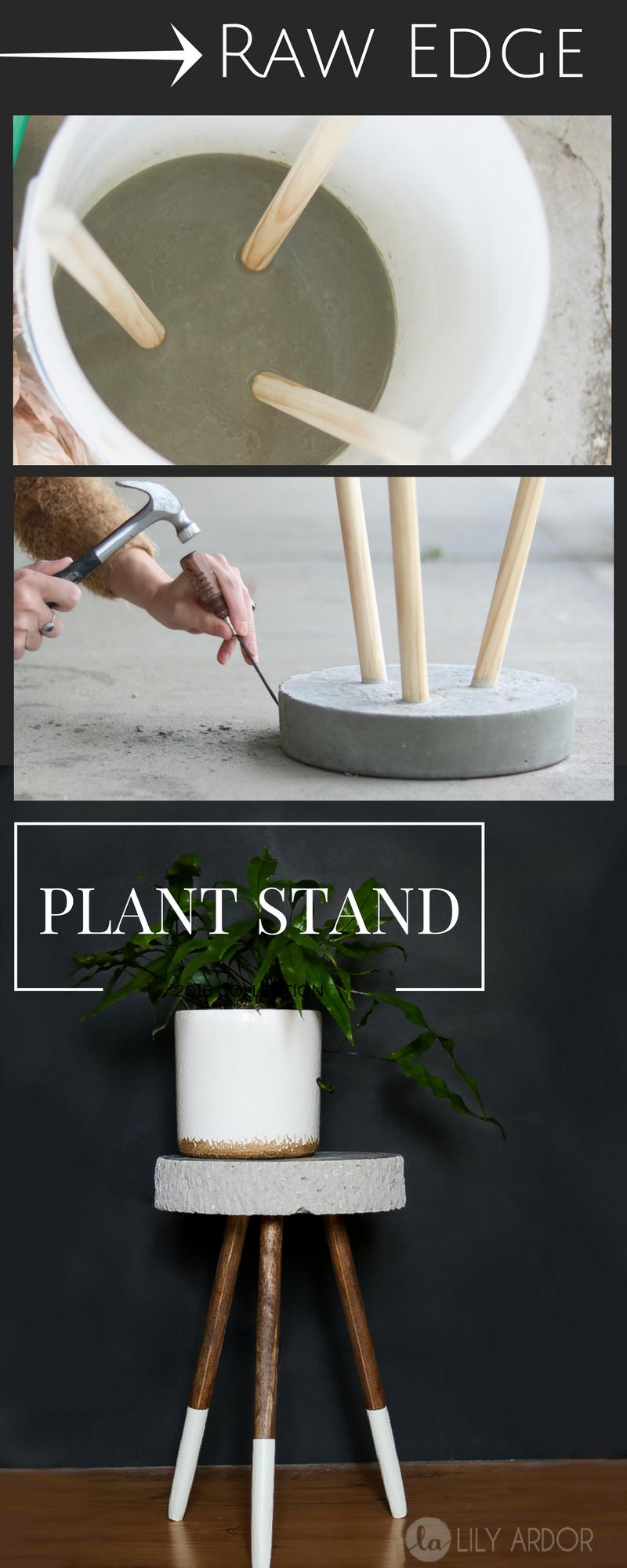 Raw Edge Concrete Plant Stand  DIY  TUTORIAL