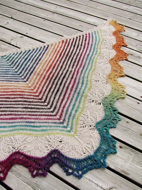 Andrea's shawl - finished! by Yarn-Madness, via Flickr - So freaking beautiful!