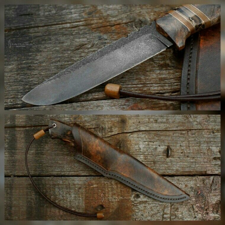 Axon 4 mm NC6 steel after hot bluing process Lenght: 260 mm / 130 mm blade Handle: stabilized populus burl, stabilized mammoth tusk, ipe, alpacca  #siadakaknives #customknife #handmadeknife #handmade #hotbluing #polishknifemakers #knivespl #knifeclub #stabilizedwood #stabilizedburl #stabilizedmammothtusk #mammothtusk #mammothivory #handmadesheath #leathersheath