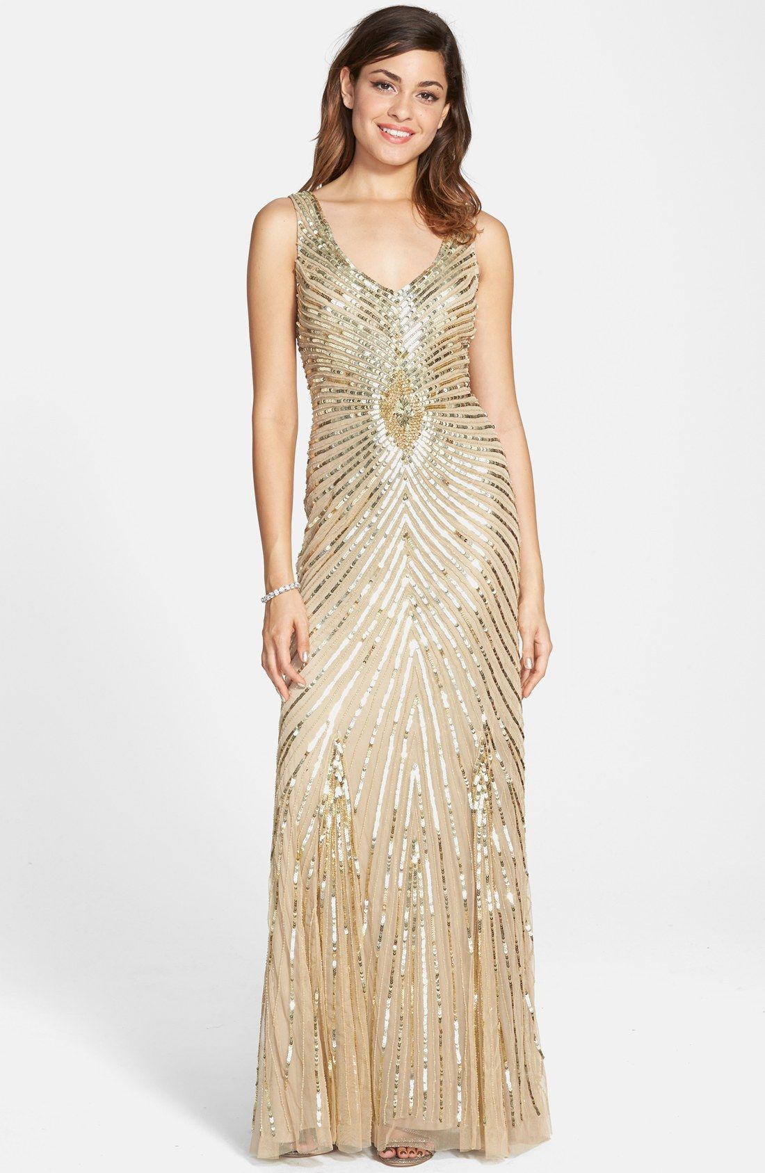 Aidan mattox sequin mesh column gown wedding pinterest aidan aidan mattox sequin mesh column gown ombrellifo Choice Image
