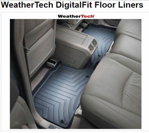 Weathertech Black Rear Rubber Floor Mats Fits 2015 2016 Ford F150