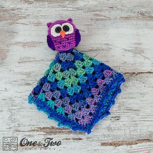 Owl Lovey Security Blanket pattern by Carolina Guzman ...
