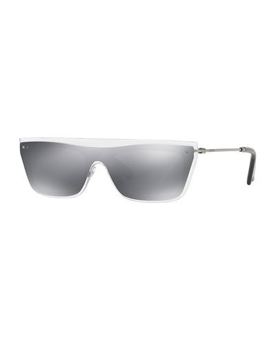 D2UUS Valentino Glamgloss Mirrored Flat-Top Sunglasses
