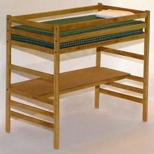 Children S Twin Loft Bed With Desk Woodworking Plans Instructions On Paper