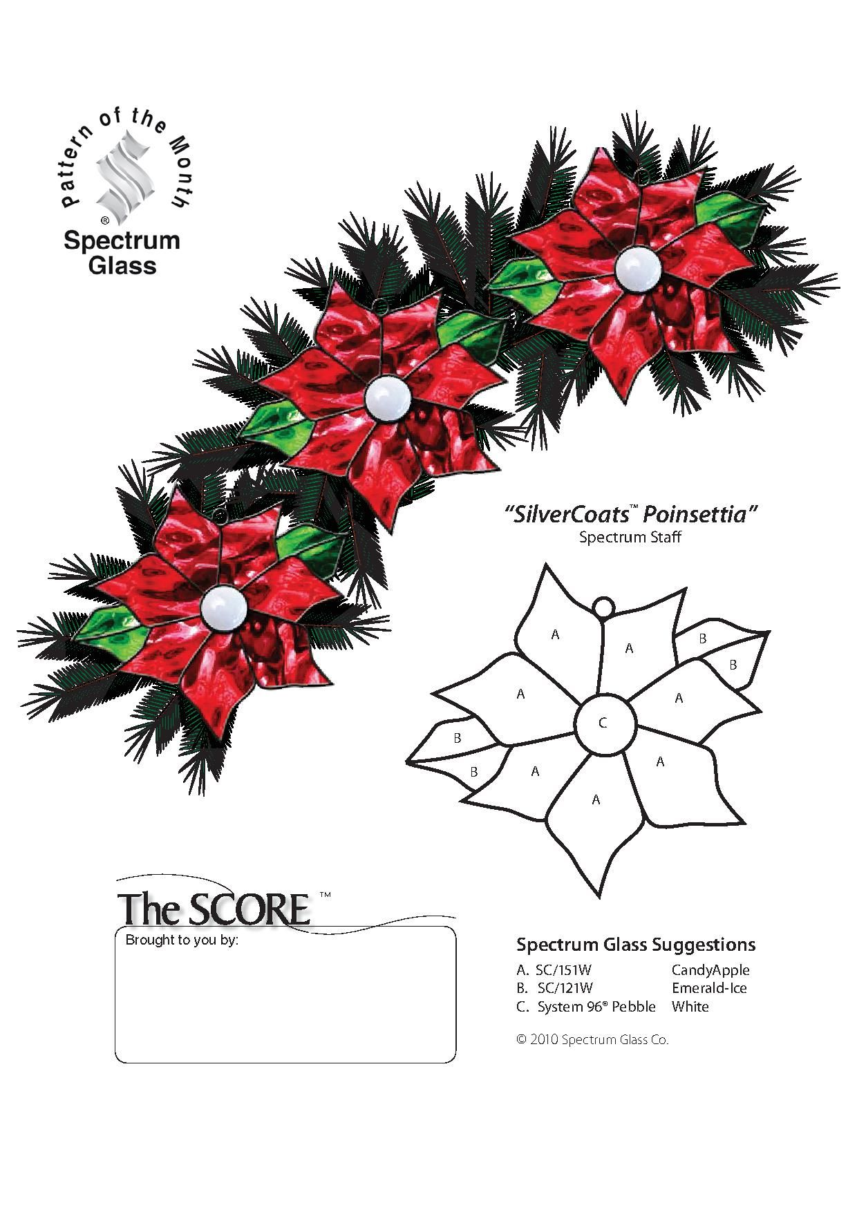 Free Stained Glass Pattern 2333 Silvercoats Poinsettia Stained Glass Christmas Stained Glass Patterns Stained Glass Ornaments