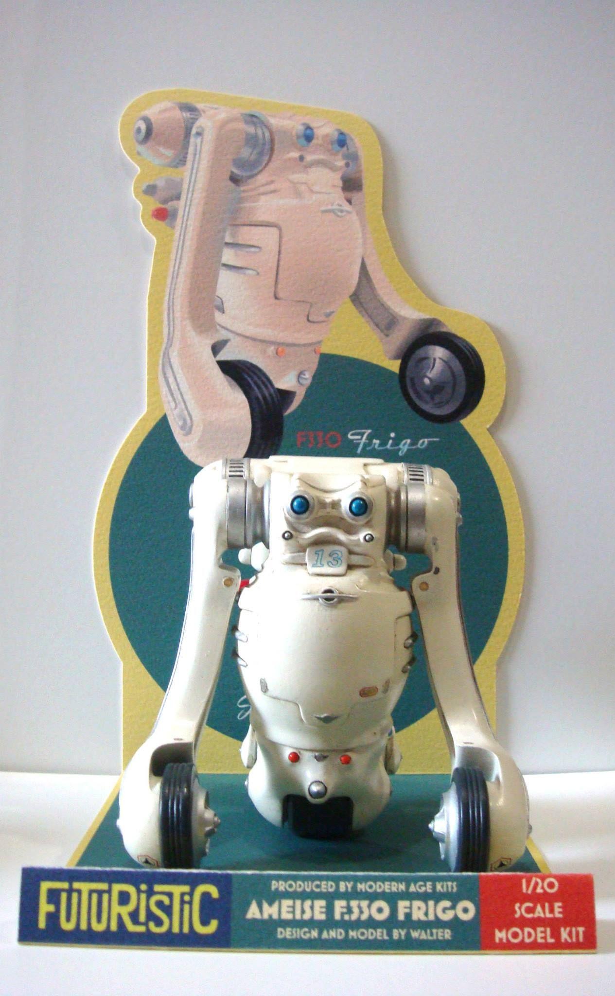Ameise Frigo And Display Futuristic Robot Retro Futurism