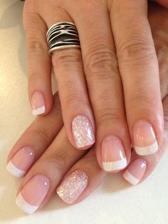 French Manicure And A Little Sparkle