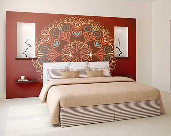 Mandala Decal Wall Wallpaper Mural Bohemian
