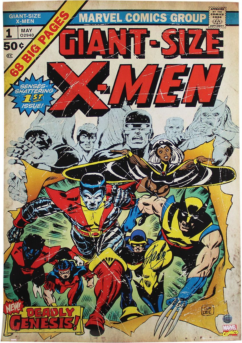 Stan Lee Signed X Men 24x36 Poster Stan Lee Auth Comic Covers Marvel Comic Books Comic Book Covers