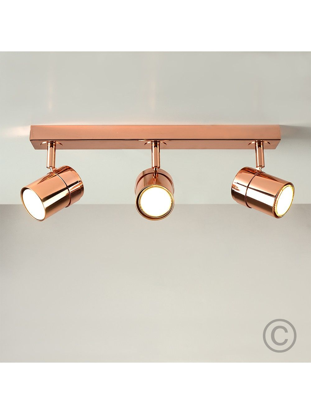 Nina Black 3 Way Ceiling Spotlight Bar Olohuoneen valaisin