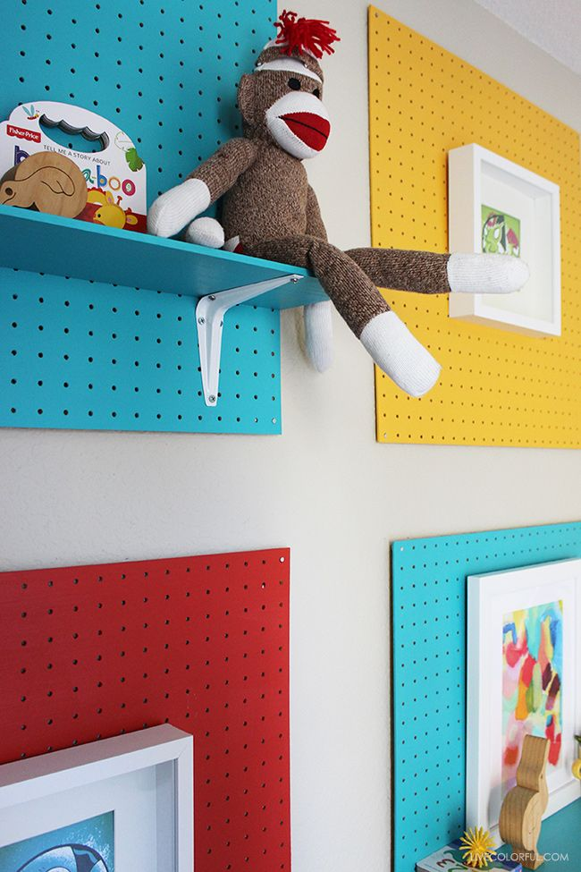 Coloridos Tableros Perforados   ⌂ Kid Spaces   Bedroom ...