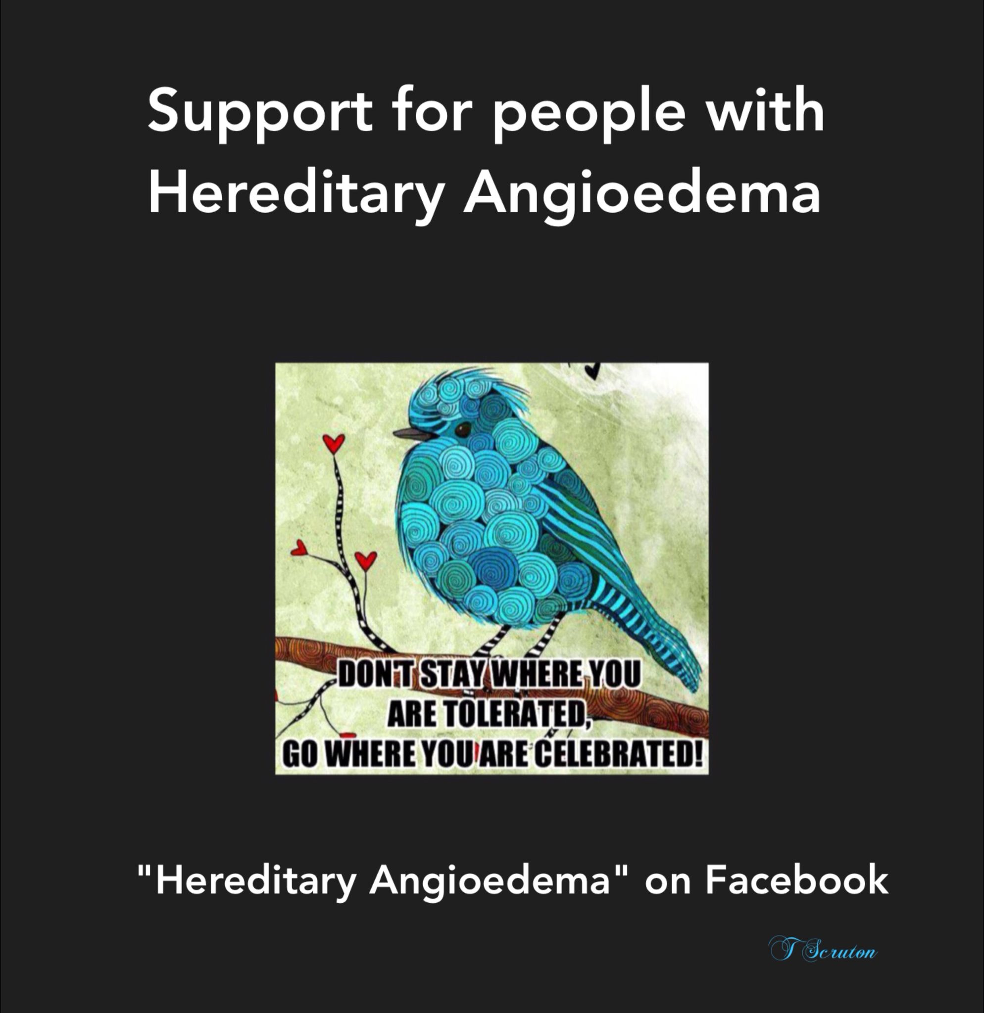 HAE, Hereditary Angioedema, chronic illness, rare disease, Facebook support group