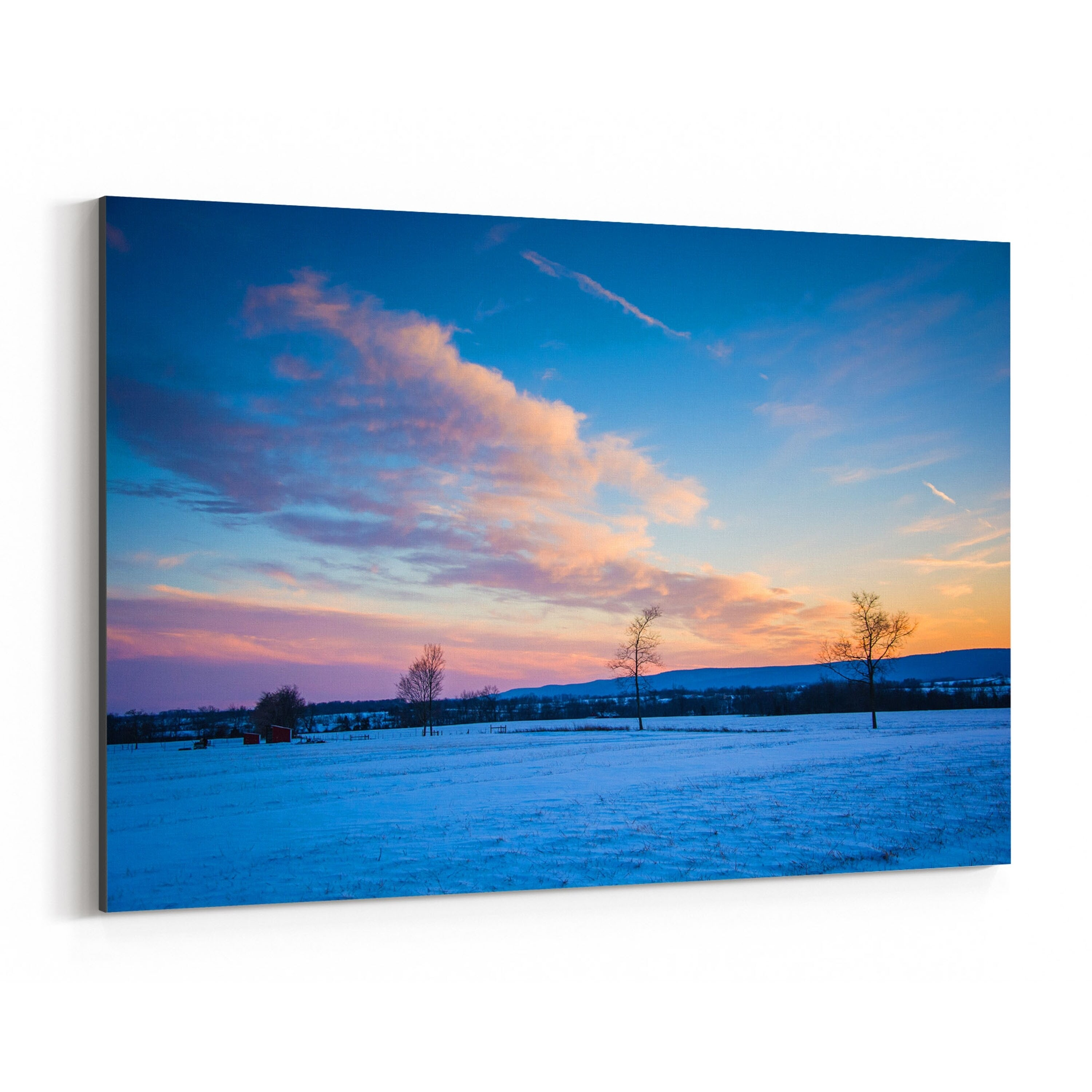 Noir gallery frederick maryland winter sunset canvas wall
