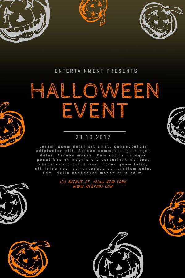 Halloween 2020 Social Events Halloween event announcement flyer social media template