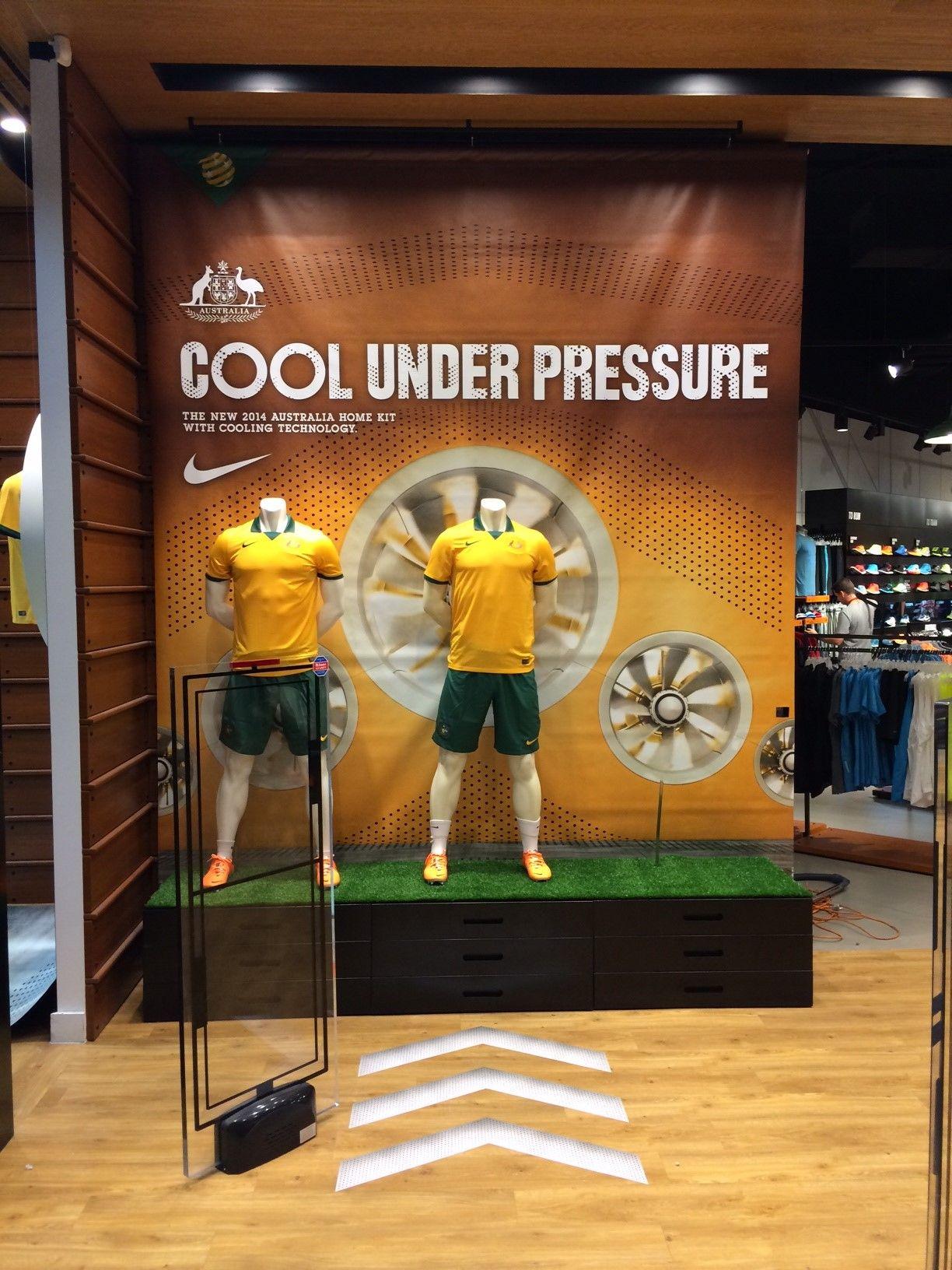Nike Cool Under Pressure Home Kit Retail Window Display Sports