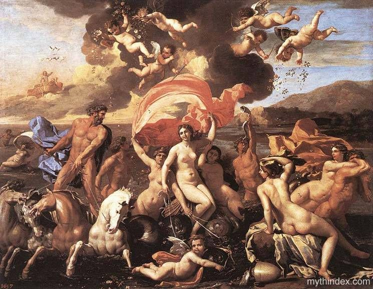 The Triumph of Neptune, by Nicolas Poussin (1594-1665), French ...