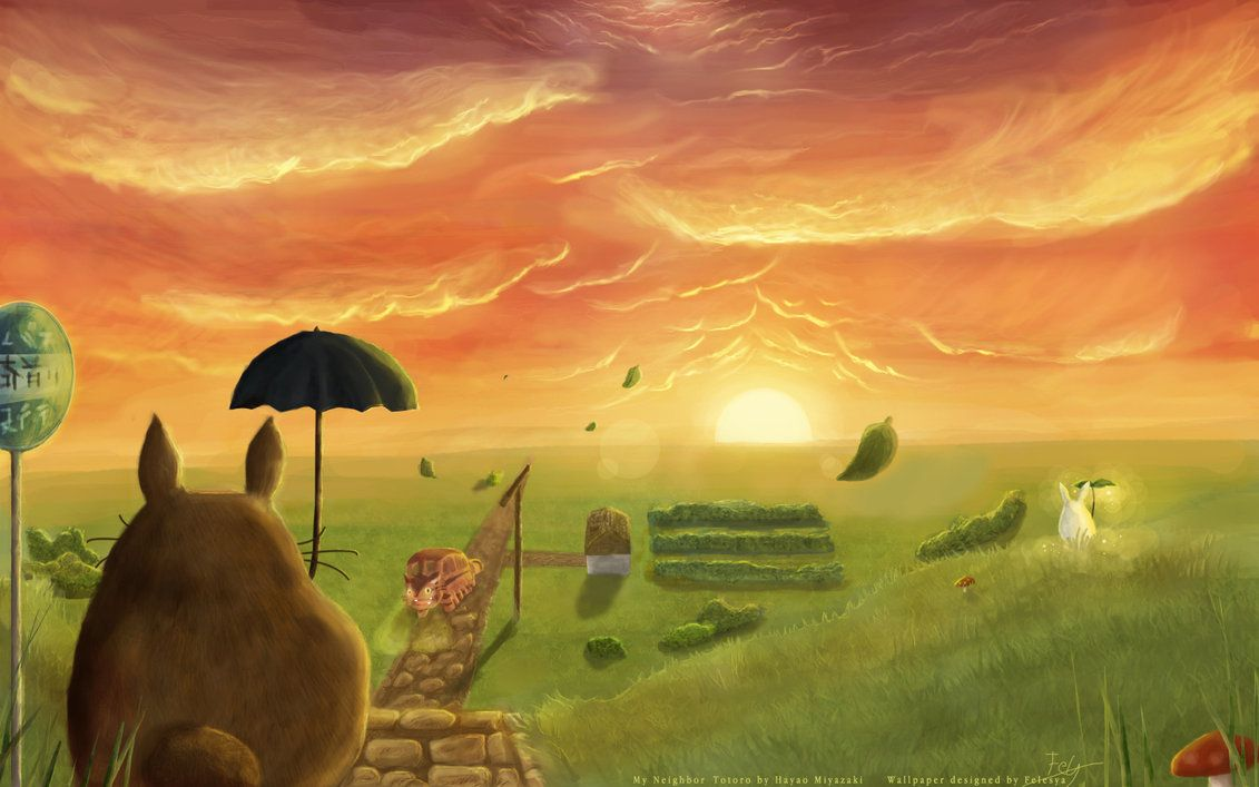 My Neighbor Totoro Fanart My Neighbour Totoro By Felesya On Deviantart ジブリ ポスター 壁紙 Hd 最高の壁紙