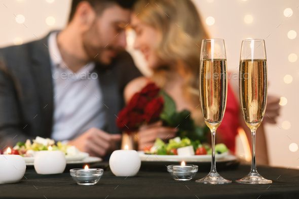 Valentines Day Celebration Background Romantic Couple Having Dinner In Restaurant by Prostockstudio Valentines Day Celebration Romantic Couple Having Dinner In Restaurant...