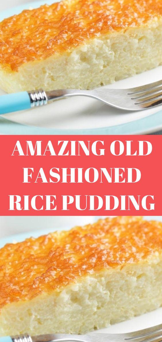 AMAZING OLD FASHIONED RICE PUDDING #AMAZING #OLD # ...
