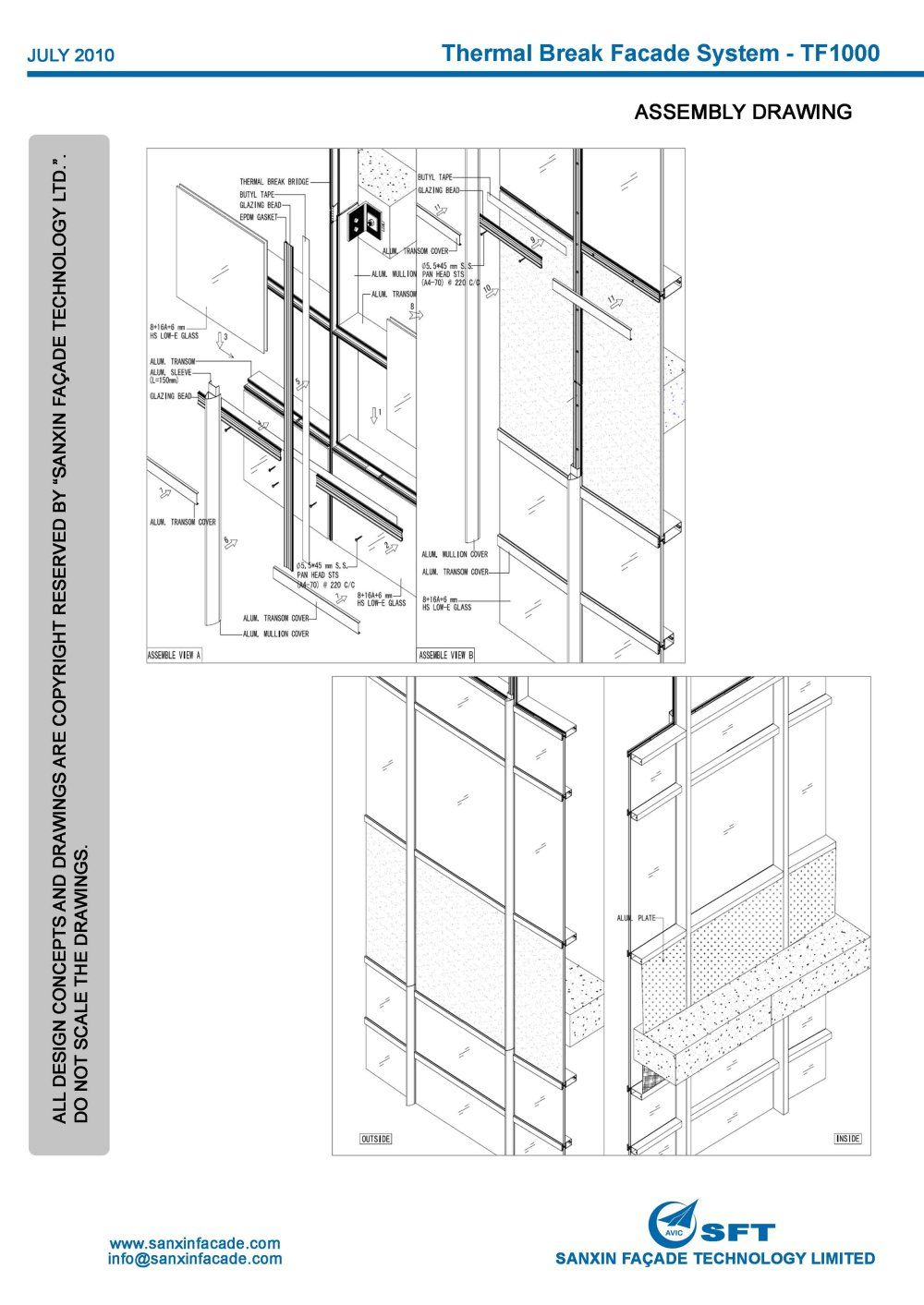 Curtain Walls SystemsStick Curtain Wall System SANXIN FACADE TECHNOLOGY  LIMITED PPR4i0NM