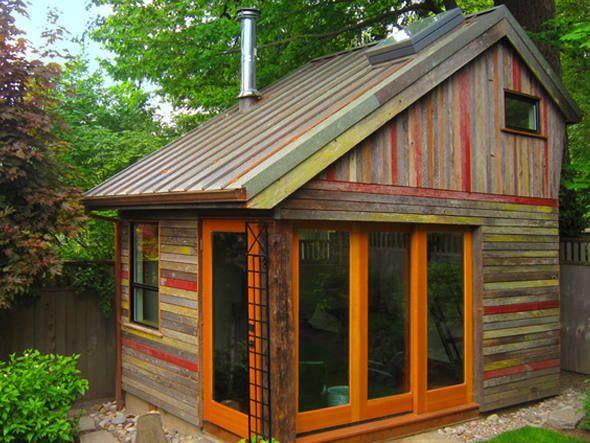 Norte americana reaproveita madeira de celeiro para - Casas rusticas pequenas ...