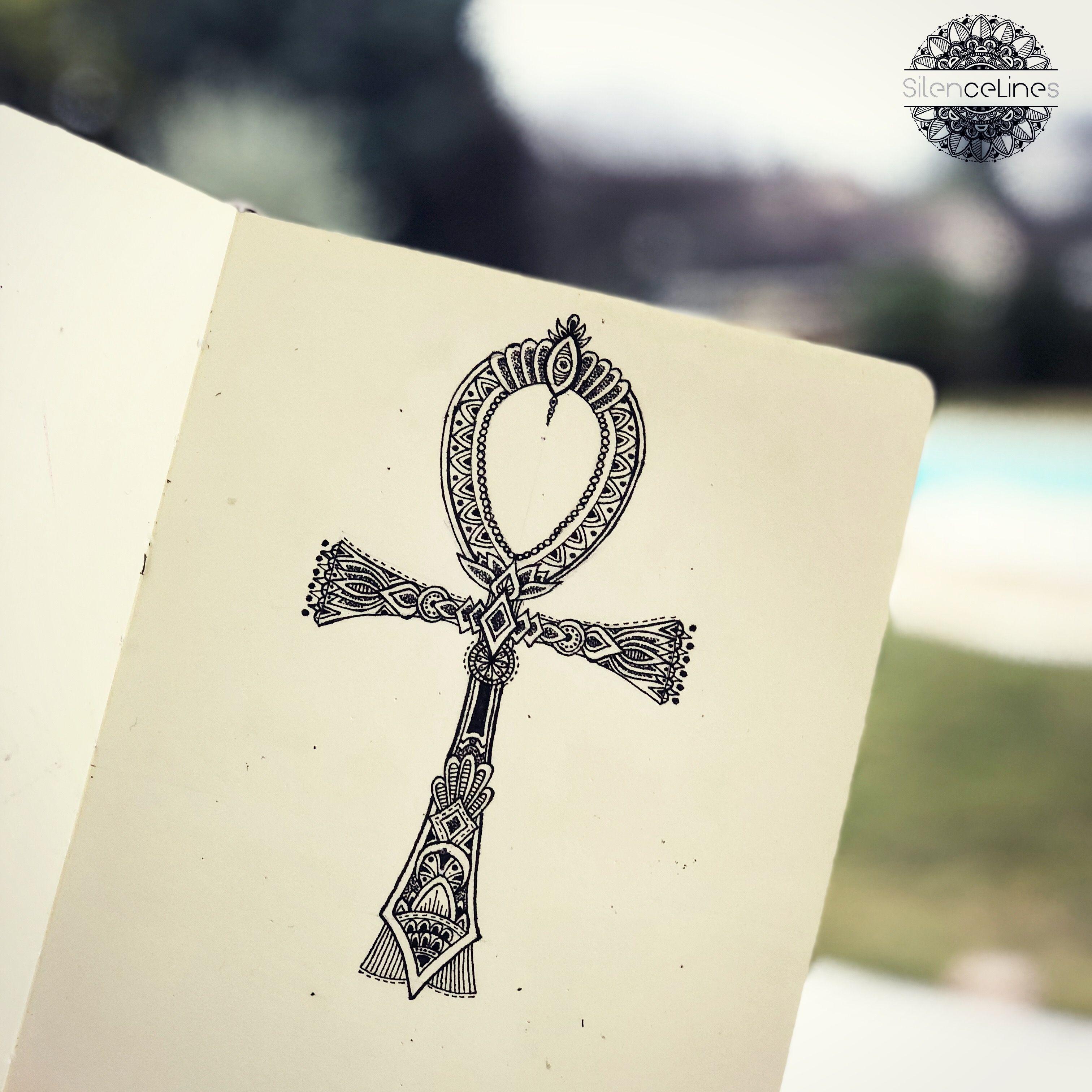 Ankh Cross Egyptian Symbol Tattoo Idea By Silence Lines Tattoo
