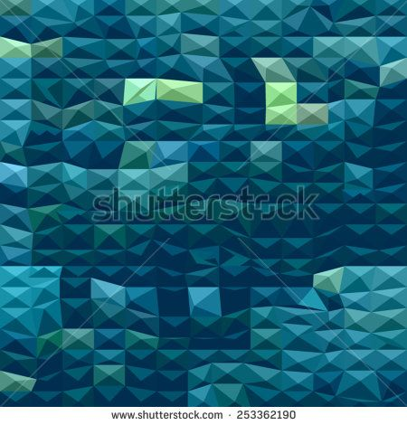 Low polygon style illustration of a blue abstract background.