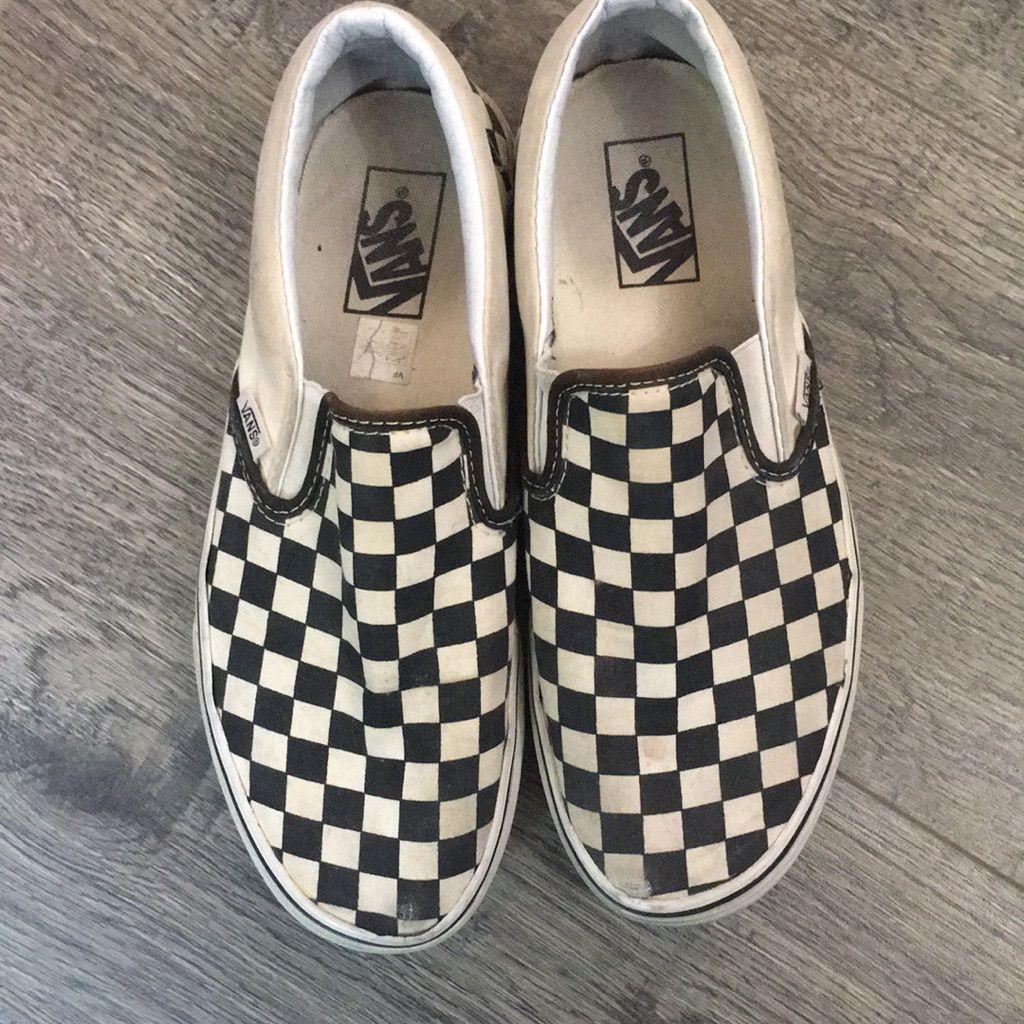 Vans Shoes   Vans B\u0026W Checkered Slip