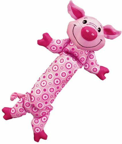 Kong Stretchezz Dog Toy Pig Medium Small Dogs 10 5 Long For