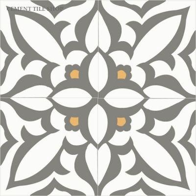 Master Bath Floor Zebra Charcoal Baldosas De Cemento Diseno Del Azulejo Mosaicos