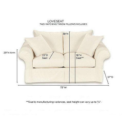 Stupendous Vintage Vogue Loveseat Slipcover Special Order Fabrics Machost Co Dining Chair Design Ideas Machostcouk
