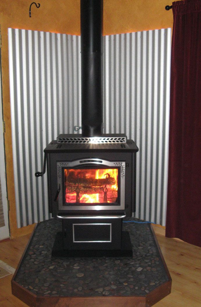 Raised Hearth And Courrogated Backing Hmmm Not Our Stove