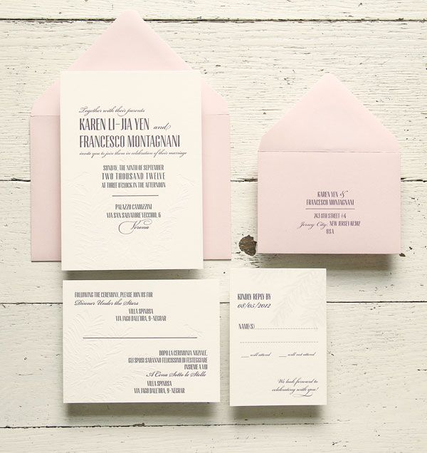 Aubergine Letterpress Wedding Invitations - realistically, these are classic enough to please my parents, yet modern enough to suit me