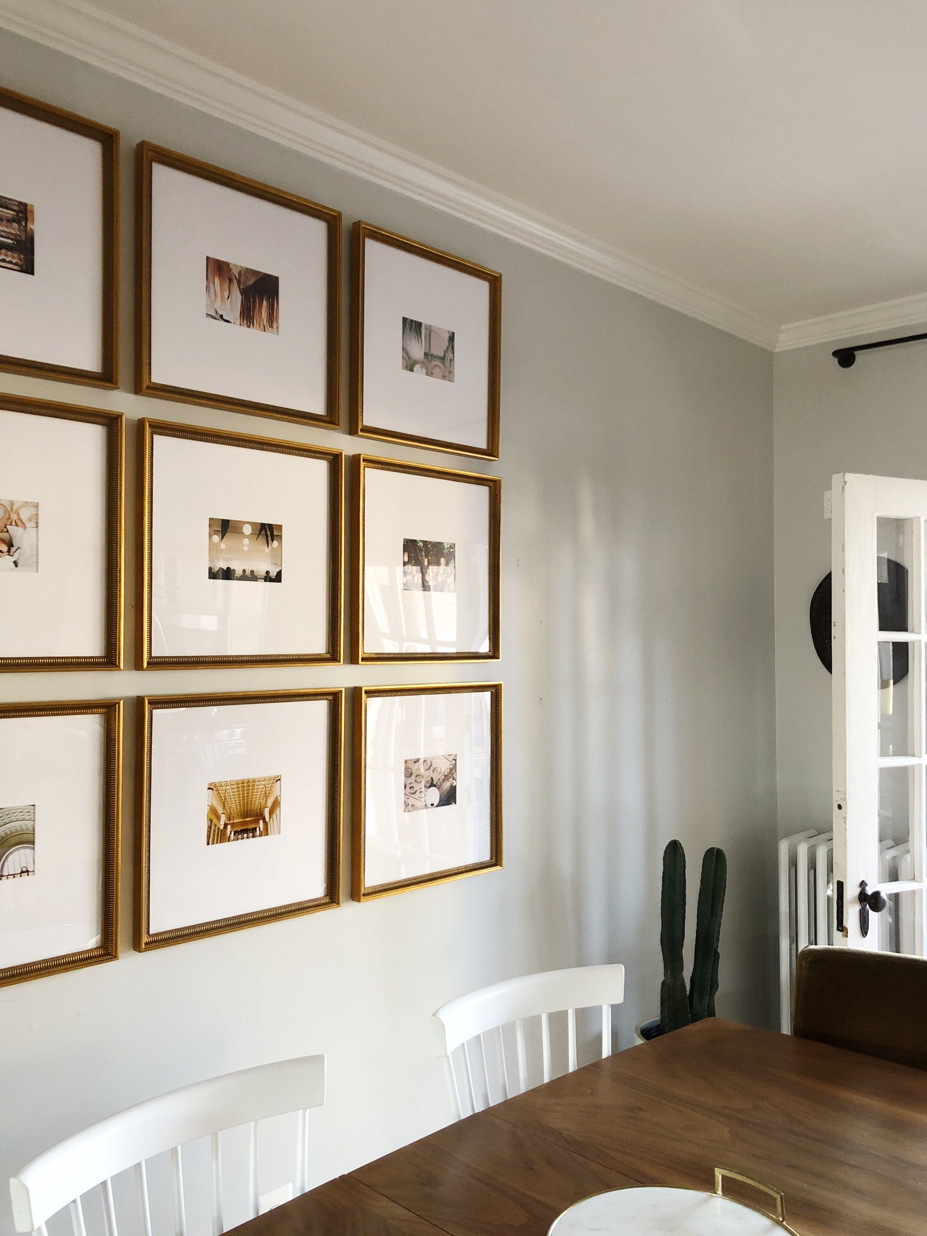 The Half Wall Grid Gallery Wall Nine Photos Oversized Mats Undeniably Gorgeous Gallery Wall Framebridge Gallery Wall Gallery Wall Layout