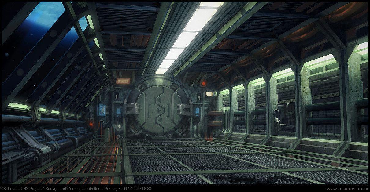 Картинки по запросу Sci Fi Space Station Interior Графика