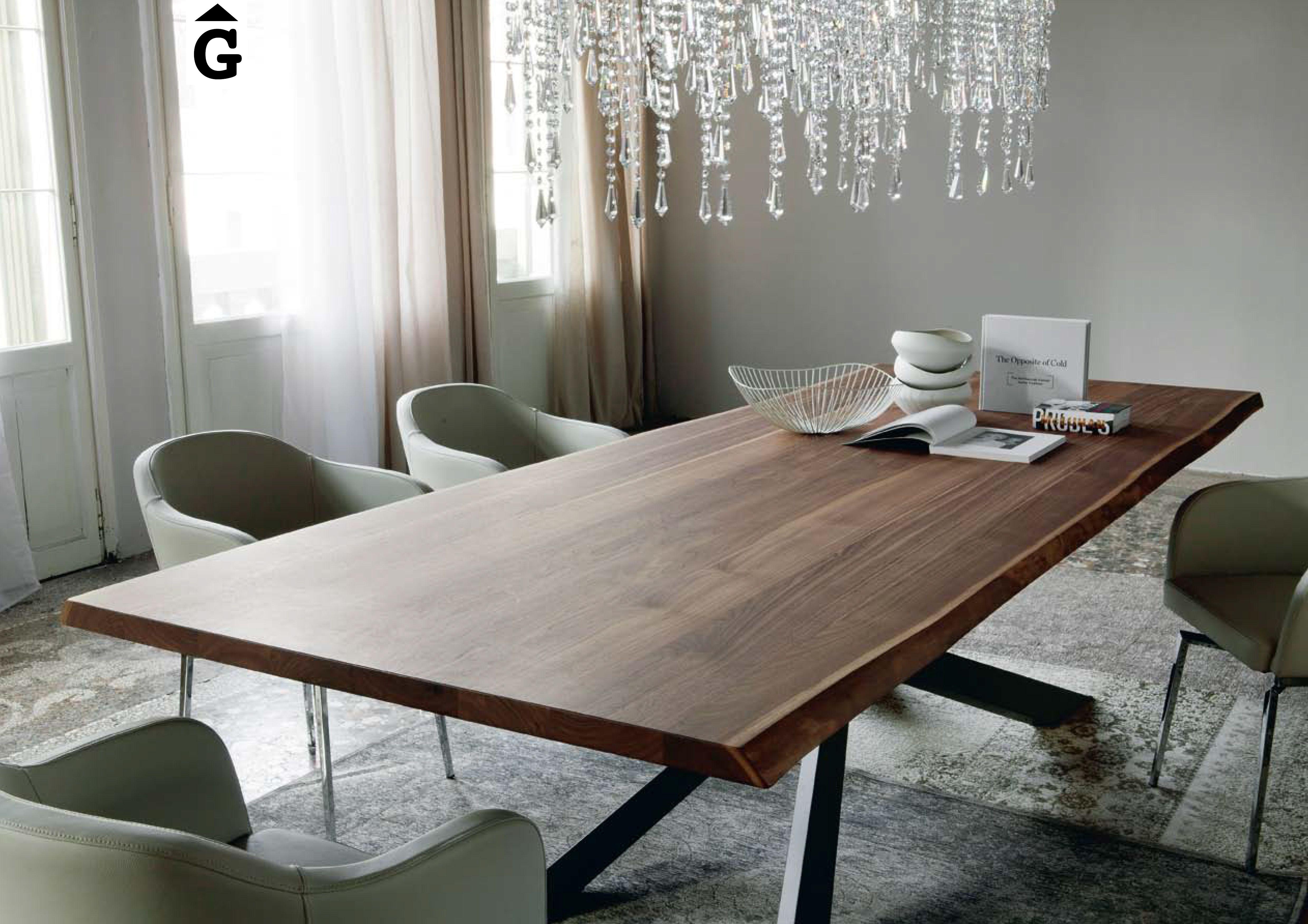 Taula sobre noguera mides i acabats a escollir solid wood dining table dining