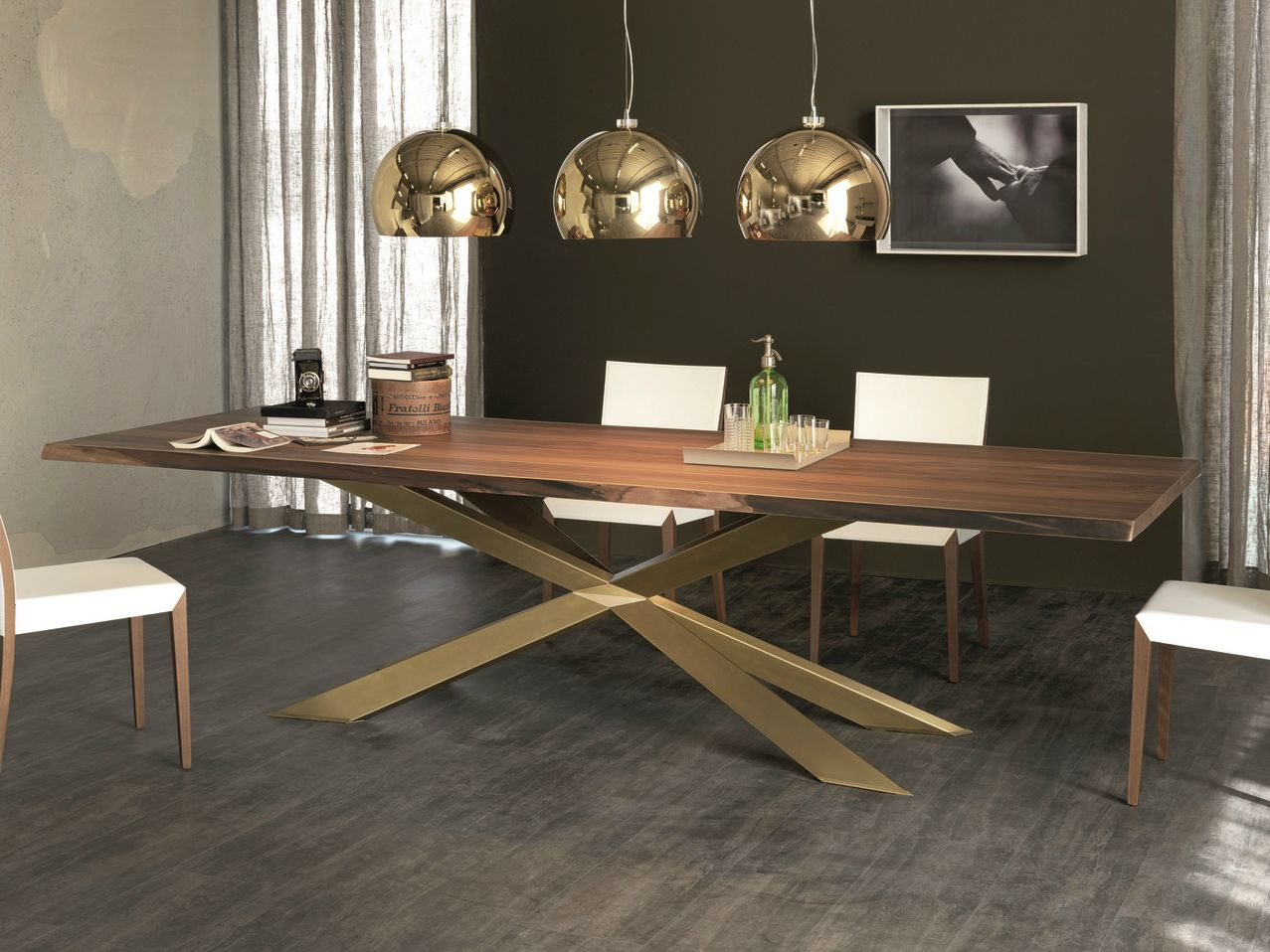 Spyder Tavolo ~ Tavolo rettangolare in legno spyder wood by cattelan italia design