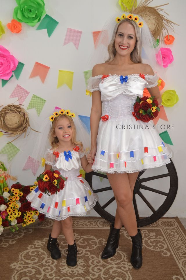 Vestido Noivinha Cristal - Tal mãe, Tal filha!  Caipira Chic - loja online